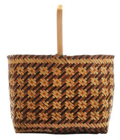 Eva Wolfe Cherokee Double-Weave River Cane Basket.