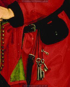 detail from Anbetung der Könige, Kunstwerk: Temperamalerei-Holz ; Einrichtung sakral ; Flügelaltar ; Meister des Schottenaltars ; Wien ; Mt:02:001-012 , Is:49:008-026 , Is:60:001-006 , Erscheinung:07:001-011 , Erscheinung:13:001-008 , Erscheinung:14:001-010  Dokumentation: 1469 ; 1480 ; Wien ; Österreich ; Wien ; Österreichische Galerie ; IN 4855  Anmerkungen: 86x80 ; Wien Schottenstift ; Baum 1971: S. 97