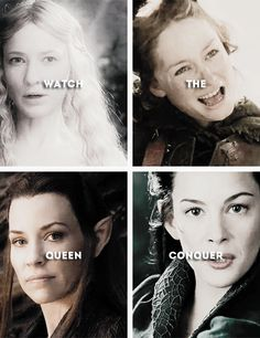 You could be the king, but watch the queen conquer. #lotr #thehobbit