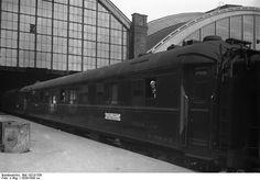 1926 Speisewagen des Nord Express Paris-Berlin-Warschau im Schlesischen Bahnhof