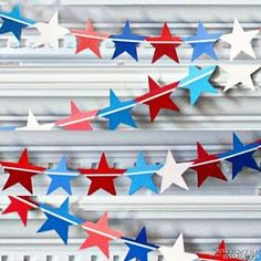 Fourth of July paint samples banner