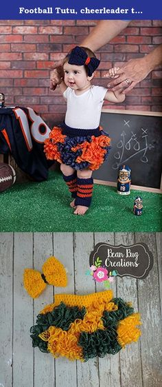 """Football Tutu, cheerleader tutu, Tutu and Headband choose your team colors. Get your little cheerleader ready for the games this fall. Choose from the colors in the last two photos for to match your favorite team. This set includes Tutu, and hair bow. Size Chart Size Chart: 0-6m 14-16"""" Waist 5"""" Length 6-12M 16-18"""" Waist 6"""" Length 1-2 Years 18-20"""" Waist 7"""" Length 2-4 Years 20-22"""" Waist 8"""" Length 4-8 Years 22-24"""" Waist 10"""" Length."""