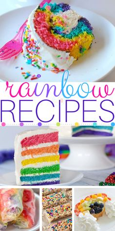 The Most Magical Rainbow Recipes In Existence! Easy rainbow theme recipes for kids, adults, birthdays, gay pride, you name it!
