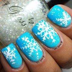 snowflakes by _lovely_nails_ #nail #nails #nailart