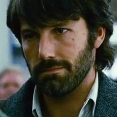 ben affleck with his hot beard ~ a quick pinterest search proves to me that I am not the only one thanking Argo for this hotness