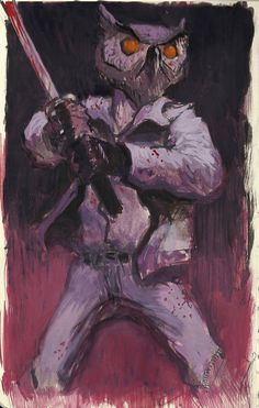 hotline miami fanart. can't wait for the second one to come out. traditional painting on moleskine.