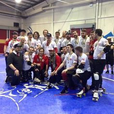 Big congratulations to England Men's Roller Derby for earning first place at 4 Nations!  We had a great time cheering you on especially our awesome coaches Reaper and Shrooms! by hertsrollerderby
