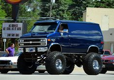 Love this Lifted Chevy Van. Reminds me of Hot Wheels cars.