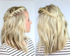 Gorgeous Twisted Bohemian Hairstyle Inspired for Medium-length Hair