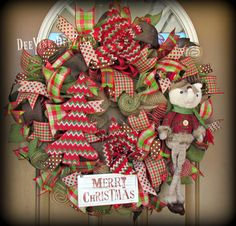 What Does the Fox Say Christmas Mesh Wreath by DeeVineDeeZines