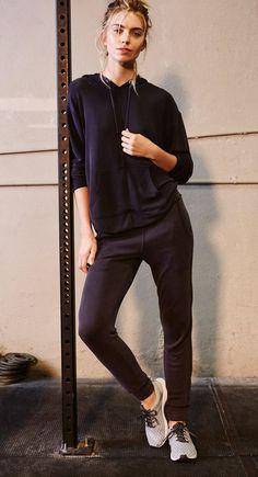newest 55aa3 3f09d Free People Back Into It Jogger Black Black Joggers, Black Pants, 70s  Fashion,
