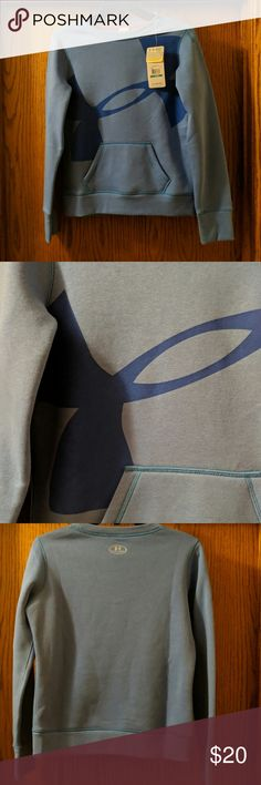 NWT Girls Under Armour Logo Crewneck Sweater Youth Large (Girls) Coldgear New Kangaroo Pocket Under Armour Shirts & Tops Sweatshirts & Hoodies