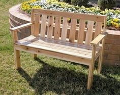 DIY Garden Bench - 52 plans  One using cinderblocks covered with small river rocks