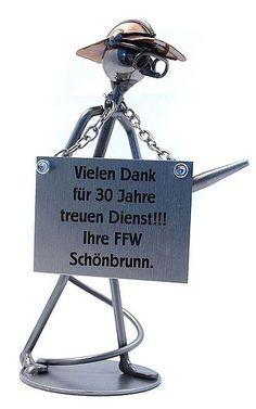 Metallmann Feuerwehrmann - Wired Line - Online Geschenkeshop mit Schraubenmännchen mit Widmung und mehr