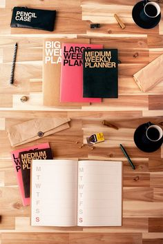 Cool! Weekly planners that pack a punch to your day. And double plus, they're environmentally friendly too: recycled paper & printed in soy ink!: