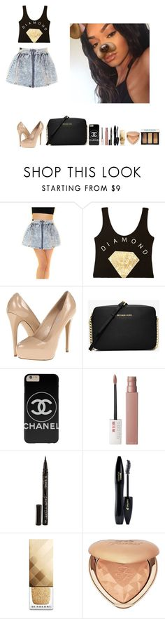 """""""-Glo Queen"""" by thegloup-reina on Polyvore featuring Forever 21, Steve Madden, Michael Kors, Maybelline, Smith & Cult, Lancôme, Burberry, Too Faced Cosmetics and Bobbi Brown Cosmetics"""
