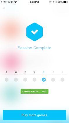 Elevate iPhone calendar screenshot