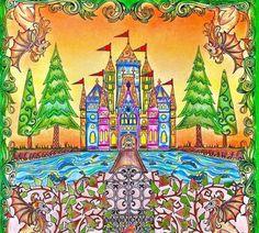 Enchanted Forest Johanna Basford Colored
