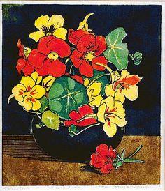 Last Of The Summer Flowers, Nasturtiums - Shelley Davies