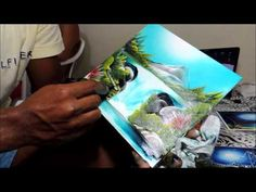 (Finger Painting) Renato Dart Impressionarte no Azulejo - YouTube