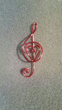 Wired treble clef