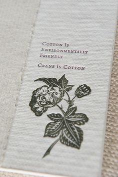 A vintage advertisement celebrating our eco-friendly 100% cotton paper