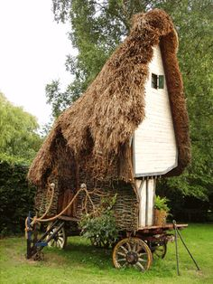 Thatched Cottage on a Cart