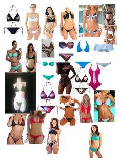 """Kats bikinis ;3"" by natalya-roy-legault on Polyvore featuring Chicnova Fashion, WithChic, LA: Hearts, Melissa Odabash, Lisa Marie Fernandez and Beach Bunny"