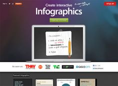 http://infogr.am is a free, simple app for creating awesome infographics. There are pre-designed themes to choose from, then just add your data and share or embed the finished infographic.