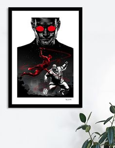 Discover «Daredevil vs Kingpin», Exclusive Edition Fine Art Print by Paola Morpheus - From 29€ - Curioos