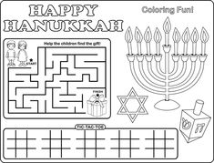 Free Printable Hanukkah Sudoku, Download, Print & Play