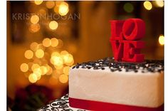 Etsy の red love cake topper ready to ship by BlueButterflyDesign