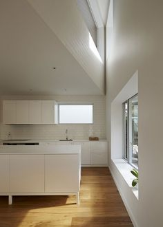 Riverview House by Bennett and Trimble  white kitchen
