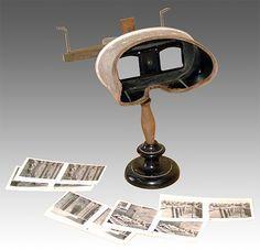 El Estereoscopio permite obtener el relieve, fabricado en madera, metal y vidrio, dimensiones 35x20x20 cm - Portal Fuenterrebollo