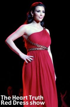 A red dress to raise awareness .