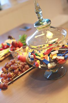 Lego paty Theme Parties, Party Themes, Lego, Breakfast, Food, Themed Parties, Morning Coffee, Eten, Legos