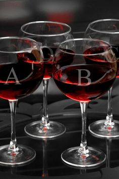 Personalized, Red Wine Glasses Set | HauteLook