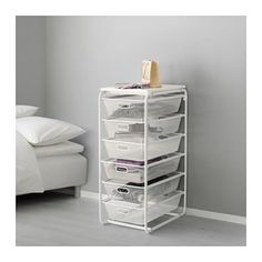 IKEA ALGOT mesh baskets/top shelf White 41 x 60 x 105 cm The parts in the ALGOT series can be combined in many different ways and so can easily be adapted to needs and space. Ikea Algot, Wardrobe Systems, Open Wardrobe, Ikea Us, Closet Storage, Smart Storage, Affordable Furniture, Cheap Home Decor, Storage Solutions