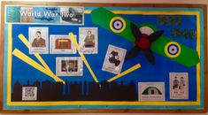28 Ideas for history classroom displays art rooms Teaching Displays, Class Displays, School Displays, Classroom Displays, Teaching Ideas, Year 6 Classroom, History Classroom, Classroom Ideas, World War 2 Display