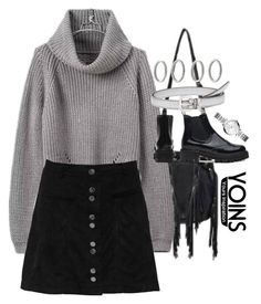 """""""yoins #5"""" by sophiasstyle ❤ liked on Polyvore featuring Miu Miu, Forever 21, FOSSIL, yoins, yoinscollection and loveyoins"""