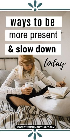 Life moves at a fast pace much of the time. It takes intention to slow down. Here are 12 easy ways you can slow down today and enjoy life more. Slow Living, Mindful Living, Evening Routine, Self Care Activities, Good Mental Health, Slow Down, Good Habits, Self Care Routine, Feeling Overwhelmed