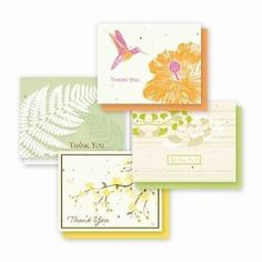 Thank You Naturals Variety Plantable Greeting Cards - 4 Pack