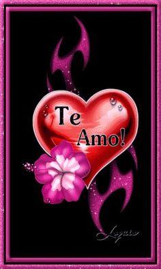 Te Amo Brianna❤️ Heart Wallpaper, Cellphone Wallpaper, Je T Aimes, Love In Spanish, Animated Heart, Animated Gif, Love Backgrounds, I Adore You, Love Phrases