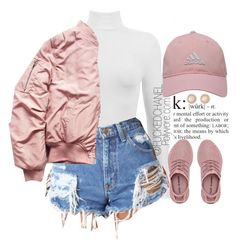 """✋ #Jeudi"" by fuckedchanel ❤ liked on Polyvore featuring Dukes, adidas Golf and Charlotte Russe"