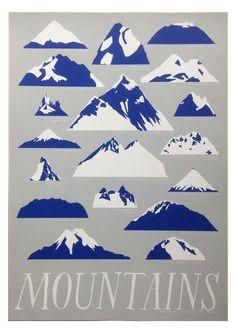 Mountains Print - Art