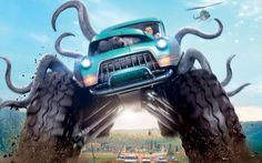 Monster Trucks 2017 4K - This HD  wallpaper is based on Monster Trucks N/A. It released on N/A and starring Lucas Till, Jane Levy, Thomas Lennon, Barry Pepper. The storyline of this Animation, Action, Adventure, Comedy, Family, Sci-Fi N/A is about: Looking for any way to get away from the life and town he was born into,... - http://muviwallpapers.com/monster-trucks-2017-4k.html #2017, #4K, #Monster, #Trucks #Movies