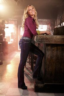 Laura Bell Bundy in Wranglers with Booty Up Technology