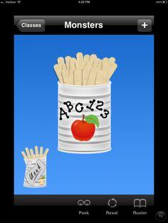 Stick Pick – iPad app for calling on students randomly – no more name jar full of Popsicle sticks on the teacher's desk!