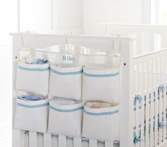 Organize your nursery with Pottery Barn Kids' baby organizers. Shop nursery storage and organization for finding the right spot for all your things. Small Nursery Organization, Baby Room Storage, Nursery Storage, Organization Ideas, Storage Ideas For Nursery, Nappy Storage Ideas, Organize Nursery, Diaper Storage, Door Storage
