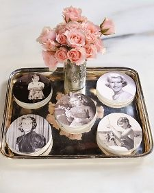 "Photo Coasters: Personalize your party decorations with an easy-to-make photo craft from ultimate party planner Darcy Miller on ""The Martha Stewart Show."""